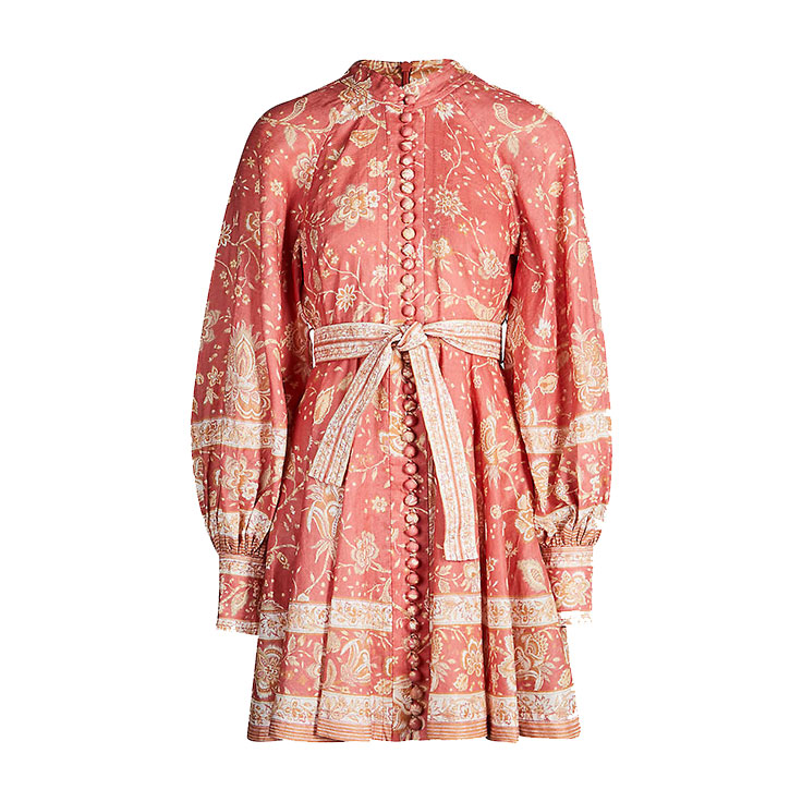 ZIMMERMANN – Veneto Border paisley-print linen mini dress
